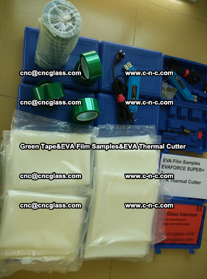 PET GREEN TAPE, EVAFORCE FILM SAMPLES, EVA THERMAL CUTTER (86)