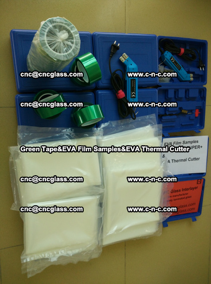 PET GREEN TAPE, EVAFORCE FILM SAMPLES, EVA THERMAL CUTTER (89)