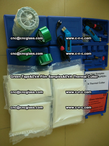 PET GREEN TAPE, EVAFORCE FILM SAMPLES, EVA THERMAL CUTTER (92)
