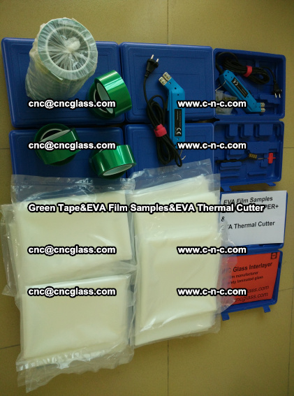 PET GREEN TAPE, EVAFORCE FILM SAMPLES, EVA THERMAL CUTTER (93)