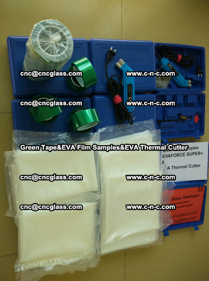PET GREEN TAPE, EVAFORCE FILM SAMPLES, EVA THERMAL CUTTER (94)