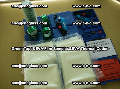 PET GREEN TAPE, EVAFORCE FILM SAMPLES, EVA THERMAL CUTTER (95)