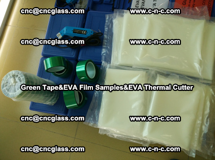 PET GREEN TAPE, EVAFORCE FILM SAMPLES, EVA THERMAL CUTTER (96)