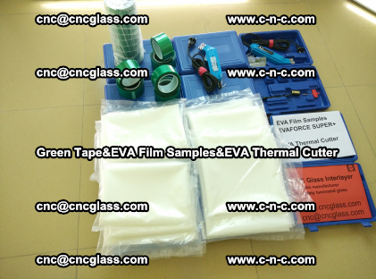 PET GREEN TAPE, EVAFORCE FILM SAMPLES, EVA THERMAL CUTTER (98)