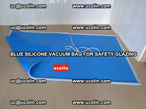 Blue Silicone Vacuum Bag for safety glazing (1)