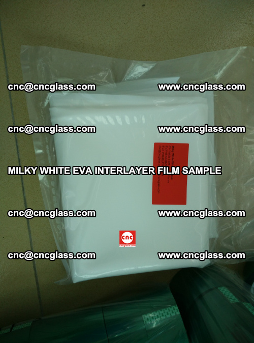 EVA FILM SAMPLE, MILKY WHITE, FOR SAFETY GLAZING, EVAVISION (1)