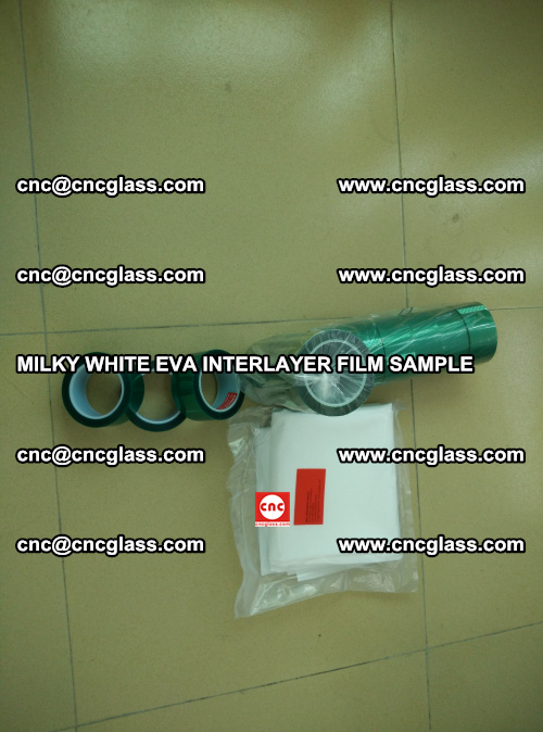 EVA FILM SAMPLE, MILKY WHITE, FOR SAFETY GLAZING, EVAVISION (16)