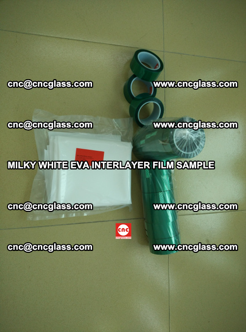 EVA FILM SAMPLE, MILKY WHITE, FOR SAFETY GLAZING, EVAVISION (2)