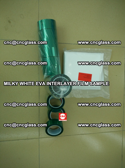 EVA FILM SAMPLE, MILKY WHITE, FOR SAFETY GLAZING, EVAVISION (28)