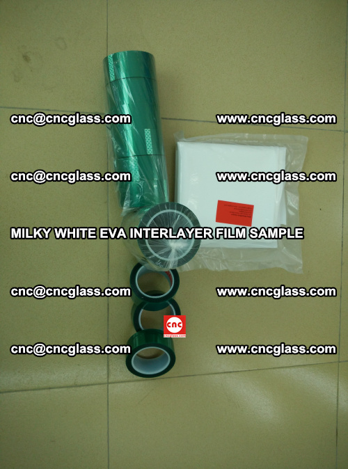 EVA FILM SAMPLE, MILKY WHITE, FOR SAFETY GLAZING, EVAVISION (31)