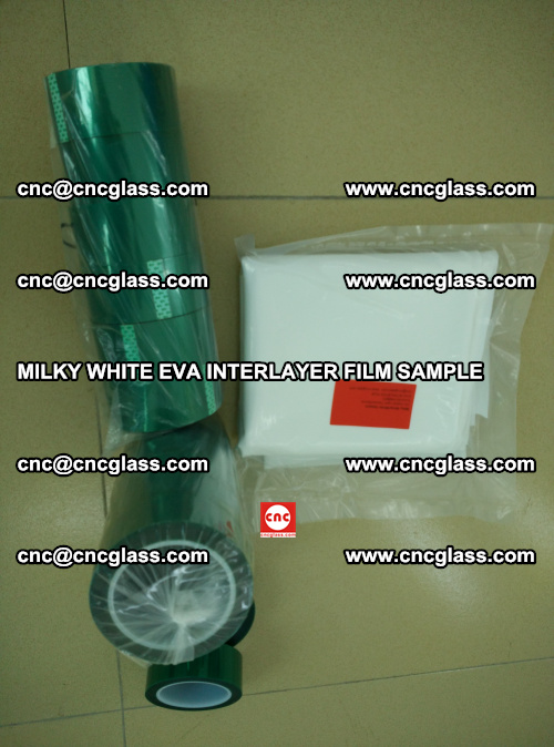 EVA FILM SAMPLE, MILKY WHITE, FOR SAFETY GLAZING, EVAVISION (35)