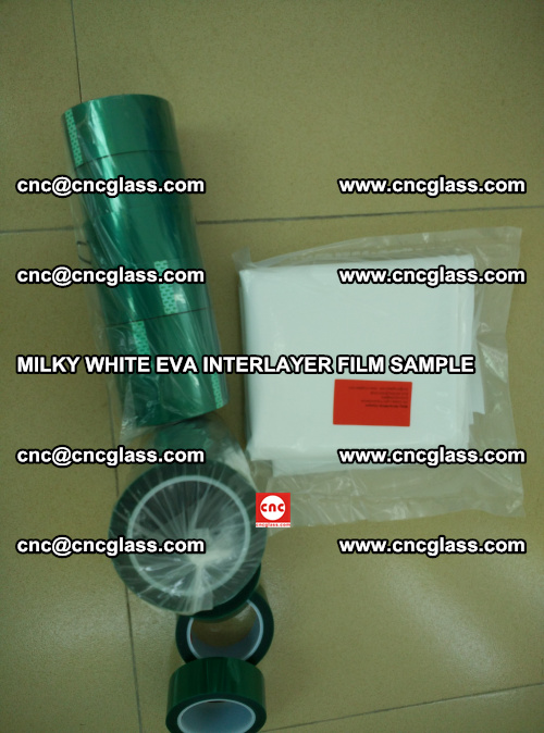EVA FILM SAMPLE, MILKY WHITE, FOR SAFETY GLAZING, EVAVISION (38)