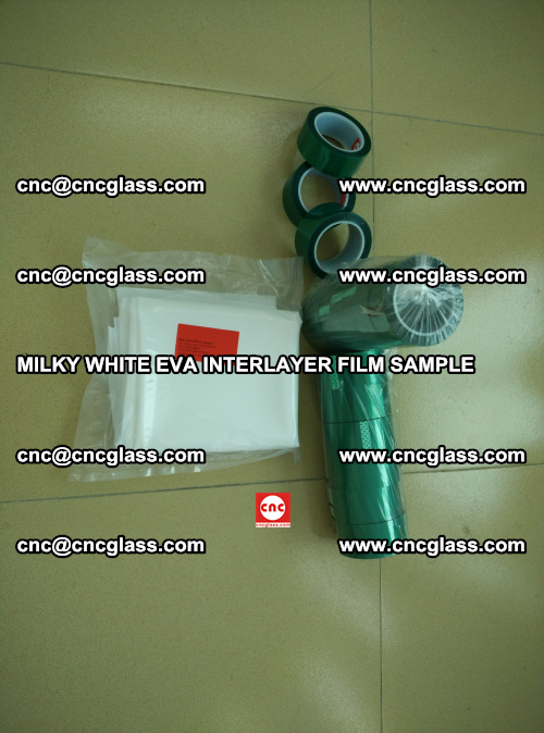 EVA FILM SAMPLE, MILKY WHITE, FOR SAFETY GLAZING, EVAVISION (4)