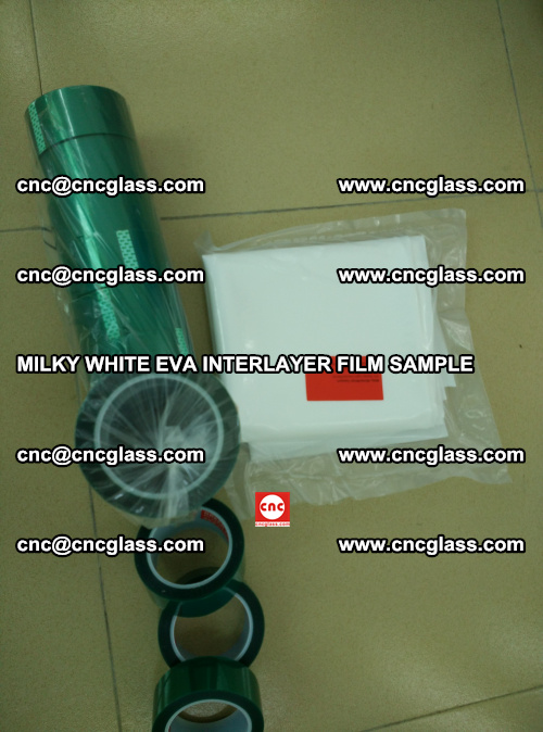 EVA FILM SAMPLE, MILKY WHITE, FOR SAFETY GLAZING, EVAVISION (42)