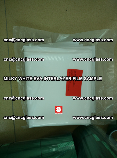 EVA FILM SAMPLE, MILKY WHITE, FOR SAFETY GLAZING, EVAVISION (55)