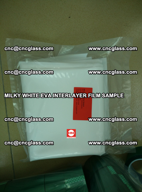 EVA FILM SAMPLE, MILKY WHITE, FOR SAFETY GLAZING, EVAVISION (57)