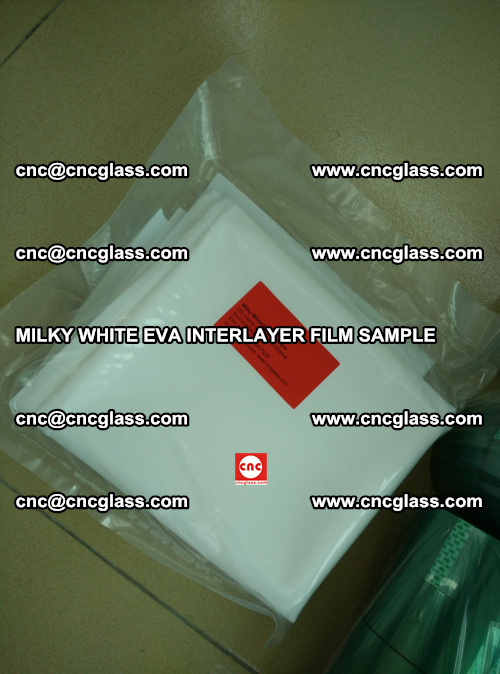 EVA FILM SAMPLE, MILKY WHITE, FOR SAFETY GLAZING, EVAVISION (61)