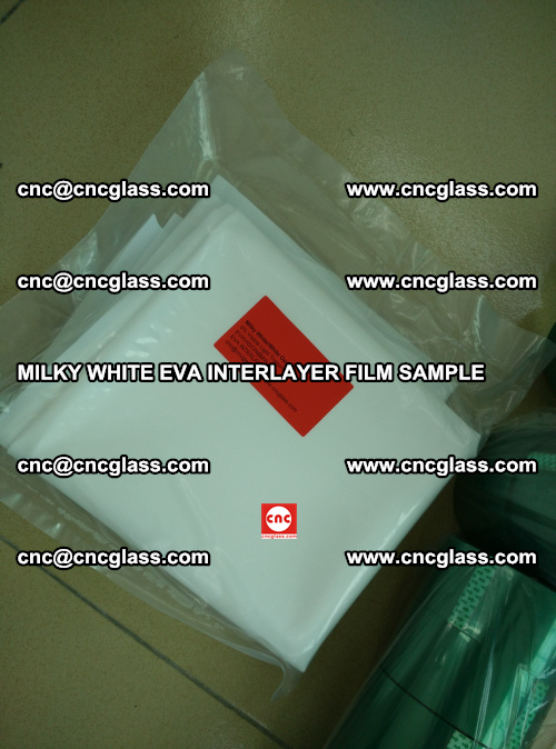 EVA FILM SAMPLE, MILKY WHITE, FOR SAFETY GLAZING, EVAVISION (62)