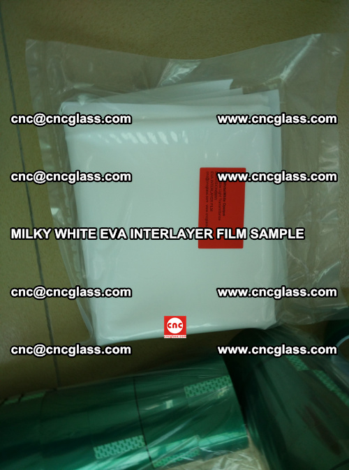 EVA FILM SAMPLE, MILKY WHITE, FOR SAFETY GLAZING, EVAVISION (65)