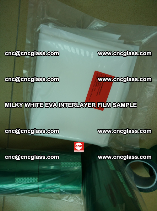 EVA FILM SAMPLE, MILKY WHITE, FOR SAFETY GLAZING, EVAVISION (66)