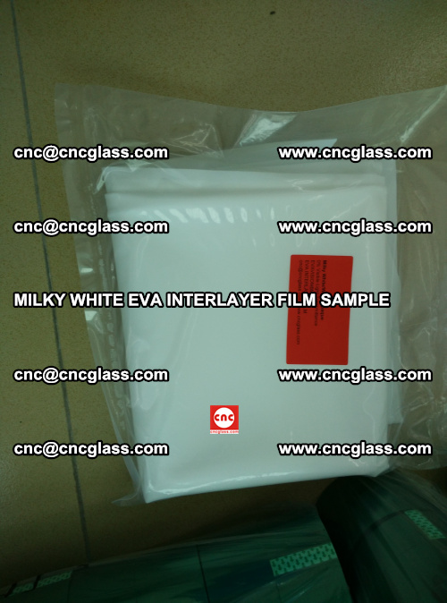 EVA FILM SAMPLE, MILKY WHITE, FOR SAFETY GLAZING, EVAVISION (71)
