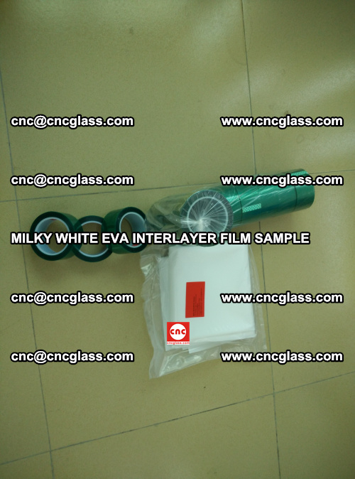 EVA FILM SAMPLE, MILKY WHITE, FOR SAFETY GLAZING, EVAVISION (8)