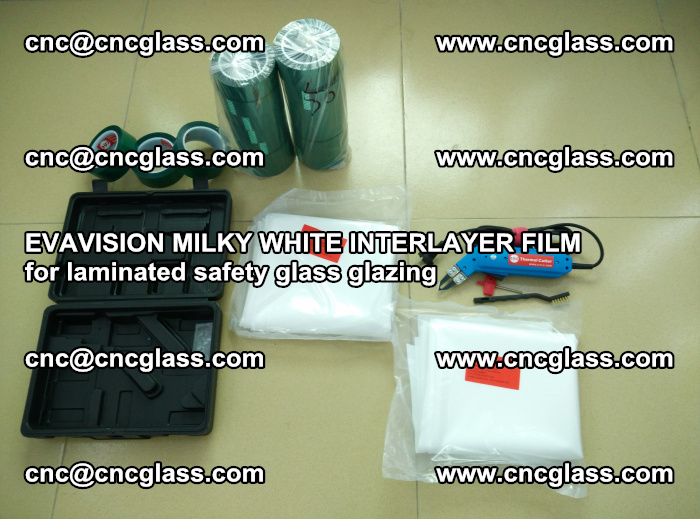 EVAVISION MILKY WHITE INTERLAYER FILM for laminated safety glass glazing (10)