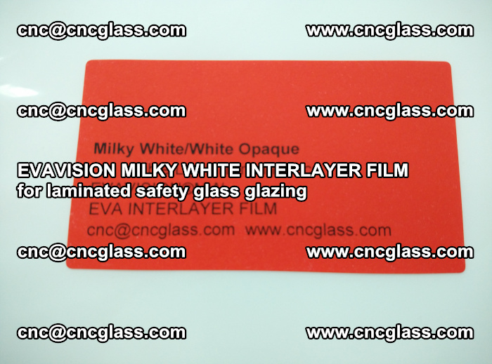 EVAVISION MILKY WHITE INTERLAYER FILM for laminated safety glass glazing (2)