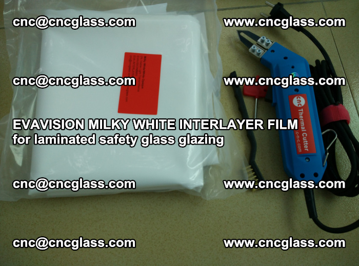 EVAVISION MILKY WHITE INTERLAYER FILM for laminated safety glass glazing (25)