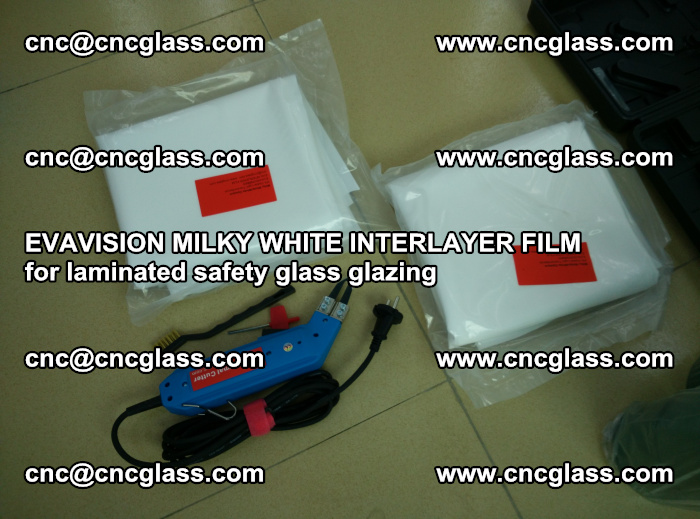 EVAVISION MILKY WHITE INTERLAYER FILM for laminated safety glass glazing (35)