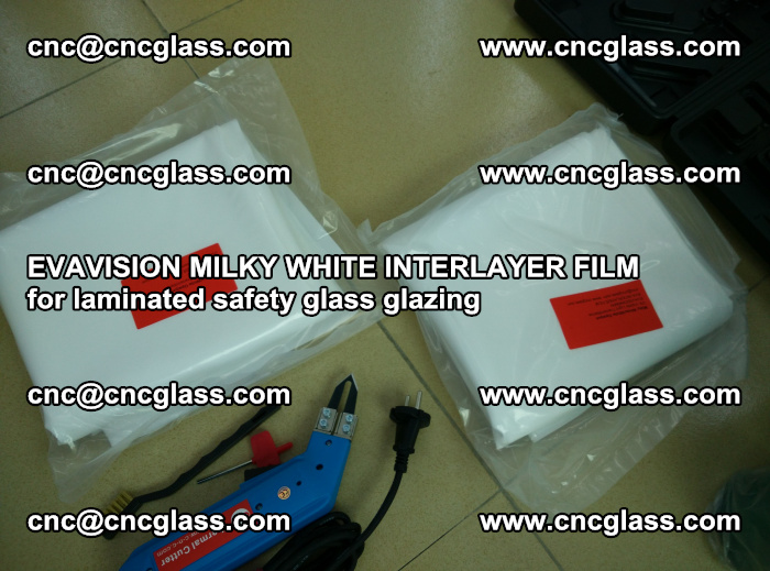 EVAVISION MILKY WHITE INTERLAYER FILM for laminated safety glass glazing (40)