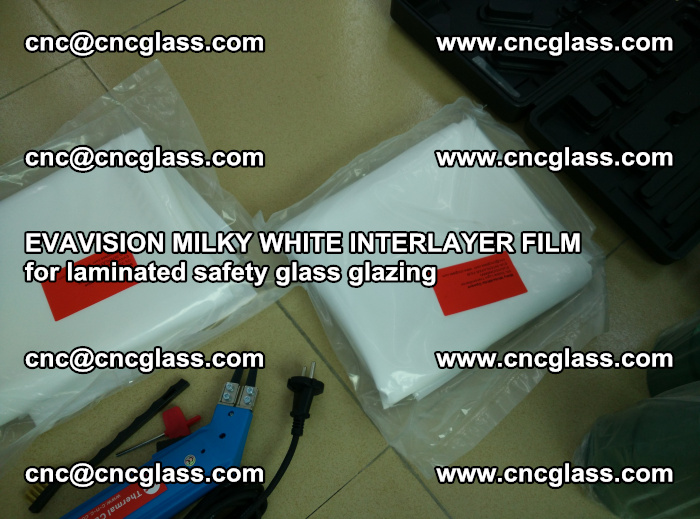 EVAVISION MILKY WHITE INTERLAYER FILM for laminated safety glass glazing (42)