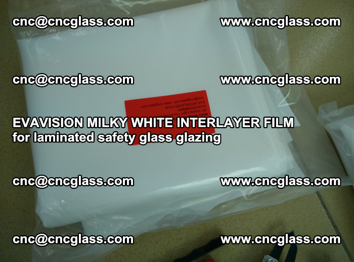EVAVISION MILKY WHITE INTERLAYER FILM for laminated safety glass glazing (50)