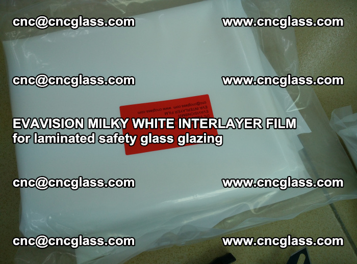 EVAVISION MILKY WHITE INTERLAYER FILM for laminated safety glass glazing (51)