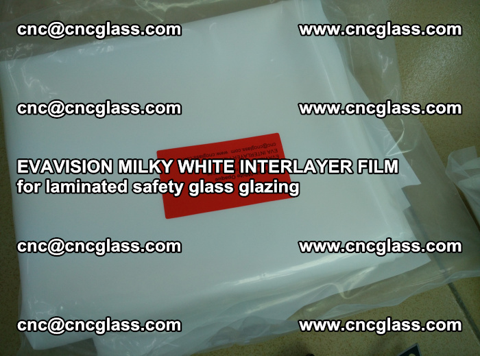 EVAVISION MILKY WHITE INTERLAYER FILM for laminated safety glass glazing (52)