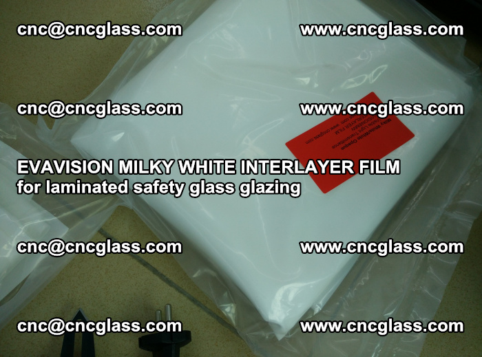 EVAVISION MILKY WHITE INTERLAYER FILM for laminated safety glass glazing (54)