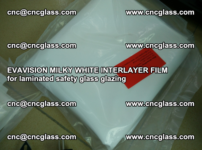 EVAVISION MILKY WHITE INTERLAYER FILM for laminated safety glass glazing (55)
