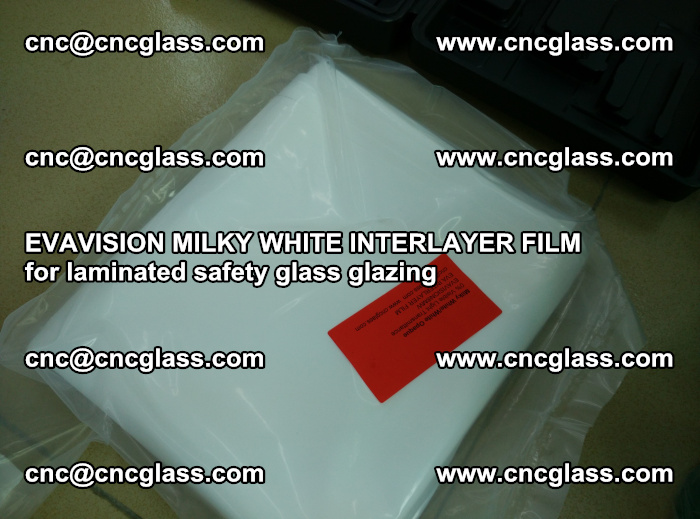EVAVISION MILKY WHITE INTERLAYER FILM for laminated safety glass glazing (58)