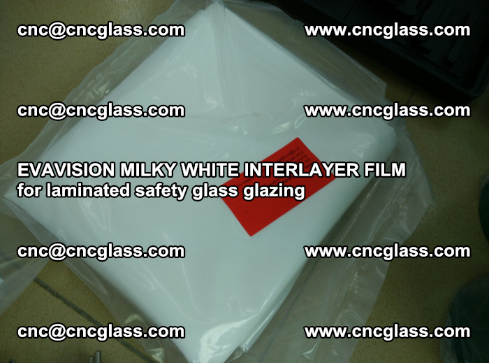 EVAVISION MILKY WHITE INTERLAYER FILM for laminated safety glass glazing (59)