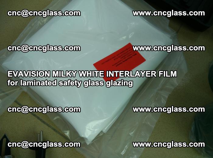 EVAVISION MILKY WHITE INTERLAYER FILM for laminated safety glass glazing (60)