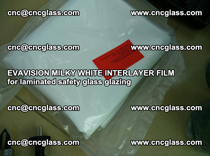 EVAVISION MILKY WHITE INTERLAYER FILM for laminated safety glass glazing (61)