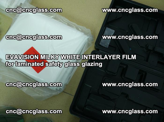 EVAVISION MILKY WHITE INTERLAYER FILM for laminated safety glass glazing (65)
