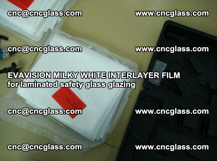 EVAVISION MILKY WHITE INTERLAYER FILM for laminated safety glass glazing (70)