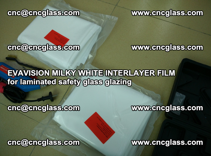 EVAVISION MILKY WHITE INTERLAYER FILM for laminated safety glass glazing (72)