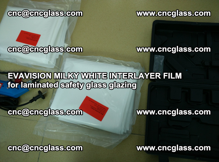 EVAVISION MILKY WHITE INTERLAYER FILM for laminated safety glass glazing (75)