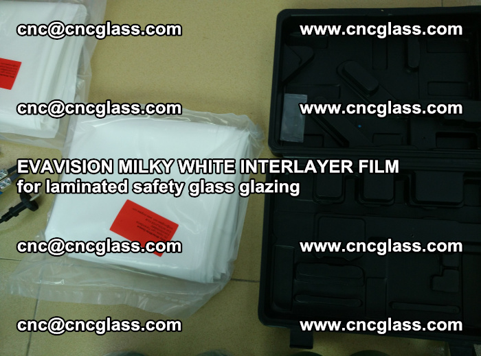 EVAVISION MILKY WHITE INTERLAYER FILM for laminated safety glass glazing (76)