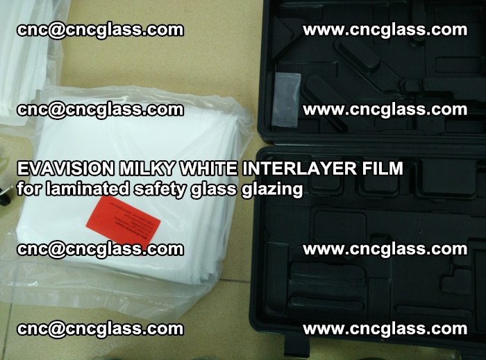 EVAVISION MILKY WHITE INTERLAYER FILM for laminated safety glass glazing (80)