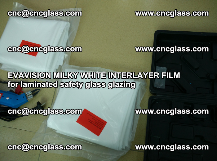 EVAVISION MILKY WHITE INTERLAYER FILM for laminated safety glass glazing (82)