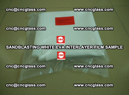 Sandblasting White EVA INTERLAYER FILM sample, EVAVISION (10)