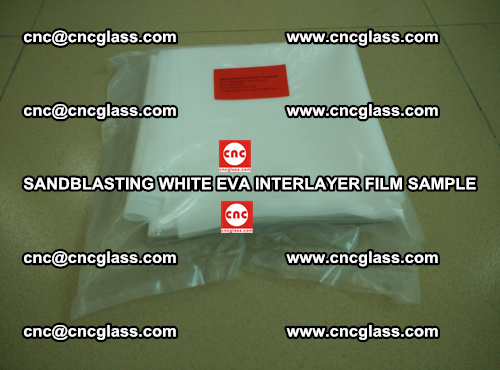 Sandblasting White EVA INTERLAYER FILM sample, EVAVISION (12)
